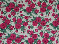"Liberty Tela de algodón popelín Diseño ""Carline"" 2 metros (200 Cm) De Cereza Rosa"