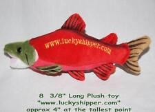 Little Plush FISH TOY red trout sockeye salmon fisherman halloween costume dog