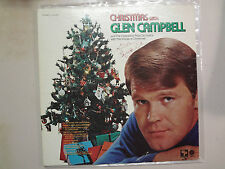 GLEN CAMPBELL: Christmas With Glen Campbell-U.S. LP PCV Autographed By Campbell