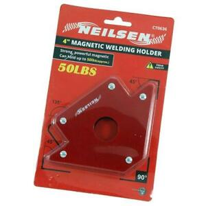 """4"""" Magnetic Welding Clamp / Holder - Holds 50lbs  at 135 90 45 degree angles"""