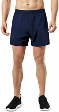 Tsla Men's Active Running Shorts, Training Exercise Workout Shorts, Quick Dry Gy