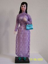 Vintage 1960's Vietnamese Woman Doll Made in Vietnam Collectible