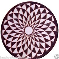 "24"" Marble Marquetry Coffee Table Top Inlaid Ancient  Floral Art Handmade H474"
