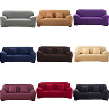 1/2/3/4 Seater Stretch Chair Sofa Covers Couch Elastic Slipcover Protector Solid