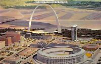 St Louis Missouri~The Gateway To The West~1960 Postcard