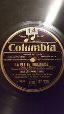 JAZZ 78 rpm RECORD Columbia JOSEPHINE BAKER France LA PETITE TONKINOISE / J´AI..