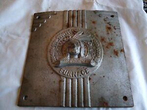 Antique Cast Iron Doe Wah Jack Round Oak Stove Door Architectural Salvage Chief