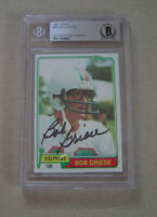 1981 Topps #482 Bob Griese Autograph Beckett Slab Auto Miami Dolphins