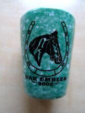WAR EMBLEM - LIMITED EDITION CERAMIC SHOT GLASS #227 of 500 PRODUCED BEETLEWARE
