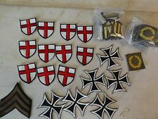 HUGE MEGA BLOWOUT SALE MILITARY PATCHES 81 TOTAL SOME WW2 RED CROSS GERMAN CROSS