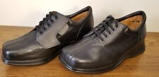 Kumfs Black Leather Lace-Up W/Hook & Loop Closure Casual Oxfords Womens Size 7 M