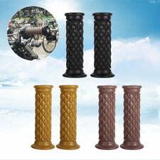 "7/8"" 22mm Motorcycle Brown Rubber Handlebar Hand Grip Cafe Racer Retro Custom"