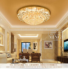Chrome Square Crystal Glass Chandelier Ceiling Light Lamp