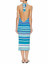 Rachel Pally SAKS Cecil Sea Stripe Printed $207 Jersey Halter Dress Size M NEW