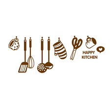 DIY Removable Happy Kitchen Wall Decal Vinyl Home Art Mural Decor Wall Stic S6E2