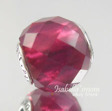 HAPPINESS ESSENCE Genuine PANDORA Sterling Silver/Synthetic RUBY Charm/Bead NEW