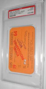 SANDY KOUFAX 1964 -Win #95-LA Dodgers Press Pass Ticket Stub 🔥PSA Authentic🔥