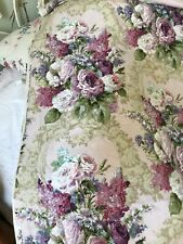 VINTAGE SANDERSON COTTON FABRIC. NEW OLD STOCK. LILACS.FRENCH PALE GREEN