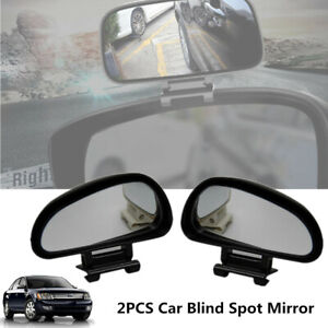 2x Car Blind Spot Rear View Mirror Adjustable Rotation Wide Angle Lens Assisted