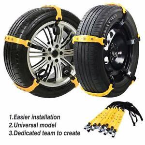 10Pcs Universal Winter Snow Mud Anti-skid Tire Chains Tendon for Car Sedan SUV