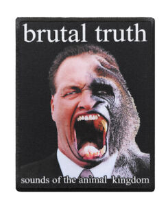 Brutal Truth printed textile patch diy sew on rock band grindcore death metal