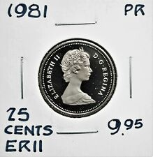 1981 Canada 25 cents Proof
