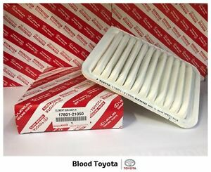 Genuine Toyota Air Filter 17801-21050 Corolla ZRE152 -ZRE182 Yaris NCP9# - NCP13