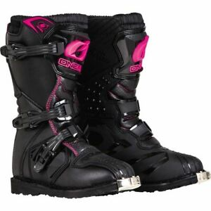 O'Neal Racing Rider Girl's Boots - Black/Pink, All Sizes
