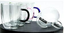 4 Elev8 Strong Clear Glass Double Wall Coffee Mug Tea Espresso Cup Free ship