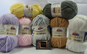 Baby Himalaya dolphin knitting wool / yarn chunky ideal for knitting / crochet