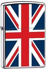 Zippo 7961 united kingdom flag high polish chrome Lighter