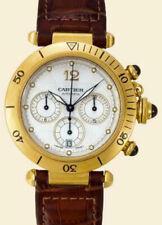 Cartier Pasha 38mm Chronograph 18K Yellow Gold Automatic Mens Wrist Watch 2111