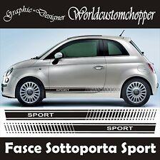 FASCE ADESIVE STICKERS SOTTOPORTA FIAT 500 SPORT AUTO TUNING