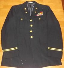 CUSTOM MADE US ARMY OFFICERS DRESS BLUE UNIFORM ID'ED With CUSTOM RIBBON BAR