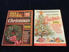2 Have a Natural Christmas Crafts Recipes Projects vtg Rodale Press 1992 1991 Sn