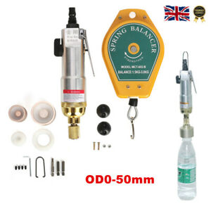 Pneumatic Bottle Capping Machine Hand Held Screw Capper Aircrew Driver Manual UK