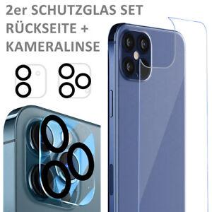 iPhone 12 Rückseite Panzerfolie Glas Schutzglas Displayschutz Glasfolie Kamera