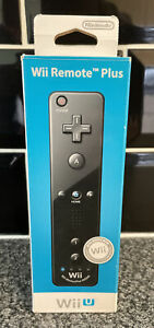 Nintendo Official Wii Remote Controller Plus Black New With Protective Case