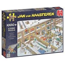 JUMBO JIGSAW PUZZLE CHRISTMAS EVE JAN VAN HAASTEREN 1000 PCS COMICS #19030