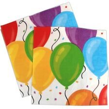 Party Balloon Napkins All Occasion Birthday Wedding Engagement Food Serviettes