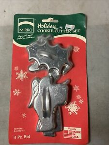 Vintage Mirro Holiday Cookie Cutter Set Aluminum NIP