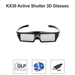 Wiederaufladbare Active Shutter 3D-Brille für Optoma BenQ DLP-Link 3D-Projektore