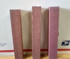 "(3) LOT OF 3, PURPLE HEART   PEN BLANKS WOOD TURNING SQUARE   3/4"" X 3/4"" X 5"""