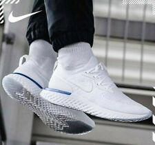 sale retailer b3a11 73c69 Nike Epic React Flyknit Trainers White Blue UK 8 EUR 42.5 Aq0067 100