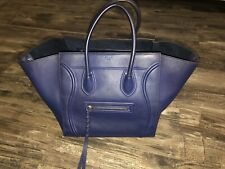 Gorgeous Authentic Blue Celine Phantom Luggage Tote Bag