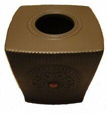 Sofia Vergara Marrakesh Medallion Tissue Box Cover Brown