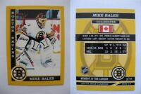2015 SCA Mike Bales Boston Bruins goalie never issued produced #d/10 super rare