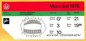 RARE 1976 MONTREAL OLYMPICS TICKET STUB-SWIMMING