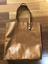 Madewell leather tote bag English saddle