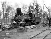 "1937 Lumber Camp Locomotive, Wisconsin Vintage Photograph 8.5"" x 11"" Reprint"